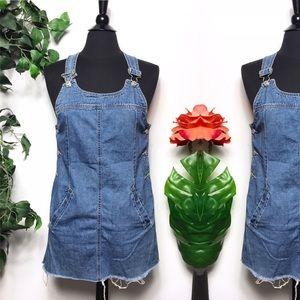 Vintage GV Blue Denim Overall Dress Size - MP